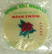 """Red Rose"" Vietnamese Rice Paper (22 cm) 12 oz"