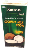 AROY-D 100% Coconut Milk Large (33.8oz)