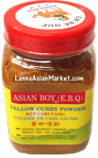 Asian Boy Yellow Curry Powder