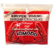 "Komodo Krupuk Udang Shrimp Crackers ""Larger Chips"""